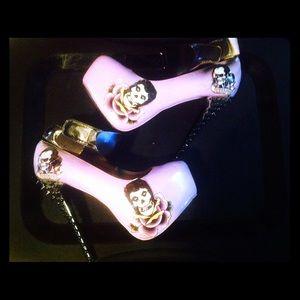 Shoes - Custom misfits punk gothic heels